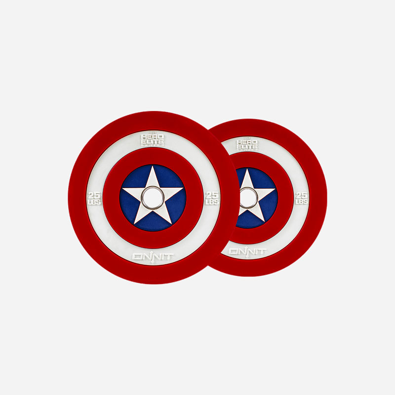 Onnit Captain America Barbell Plates