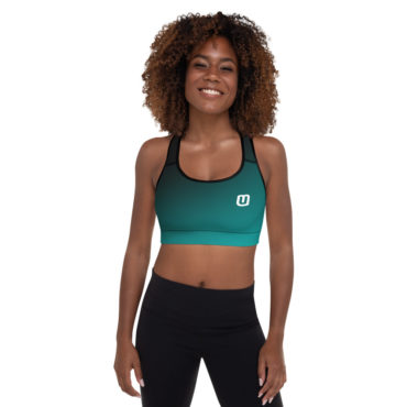 Teal Gradient Padded Sports Bra